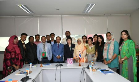 Delegations from the North South University paid a visit to the Faculty of Tropical Medicine, Mahidol University and Hospital of Tropical Diseases